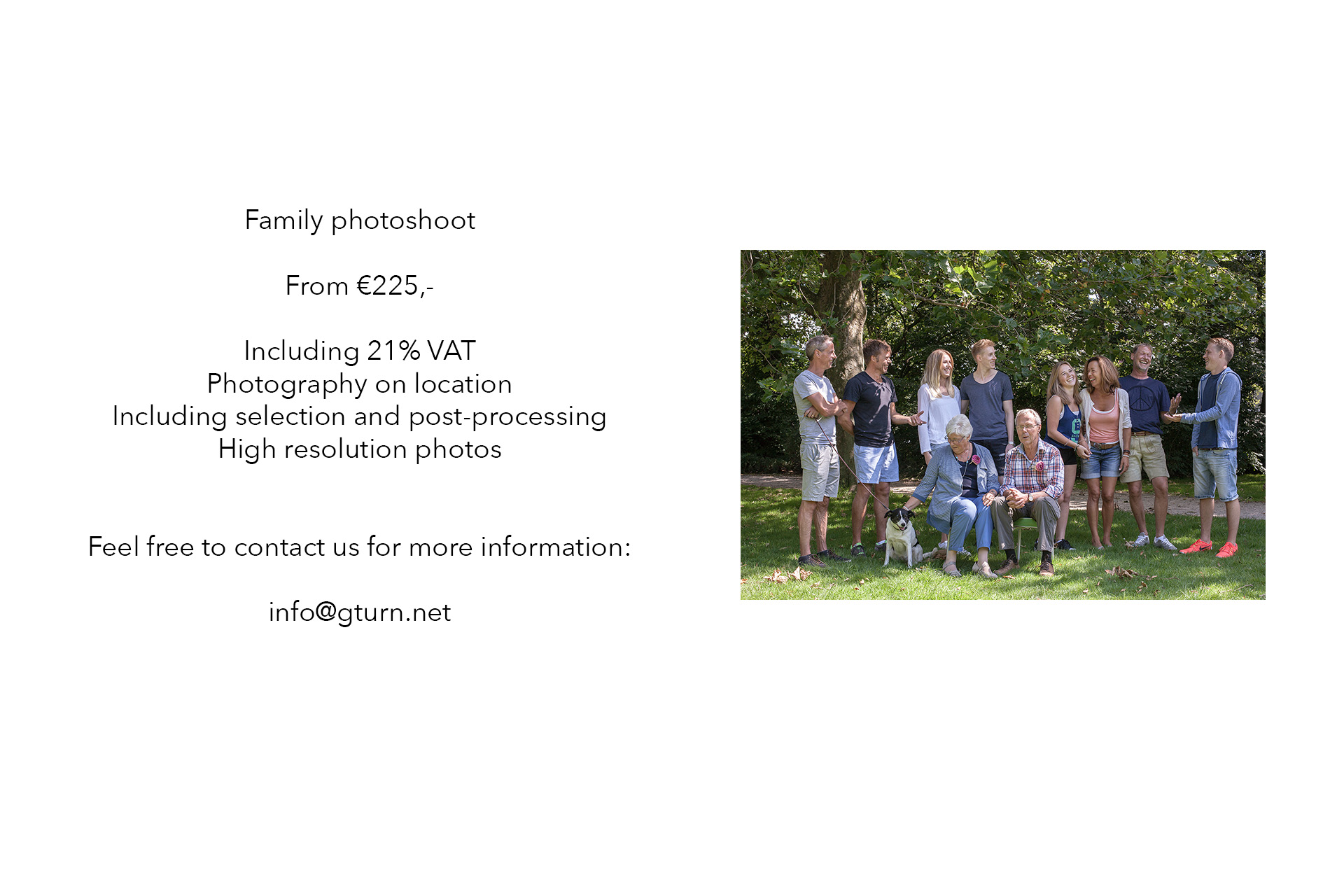 prices family photography